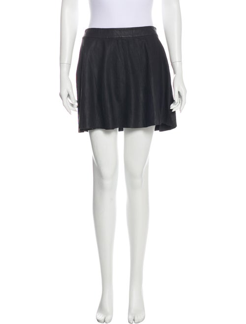 Joie Leather Mini Skirt Black