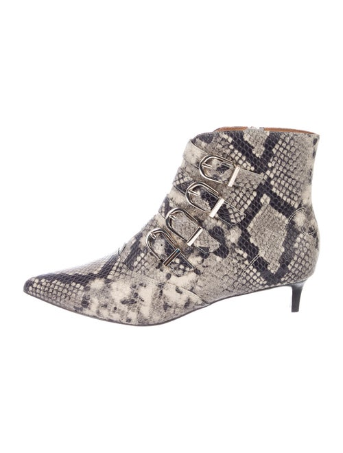 Joie Leather Animal Print Boots