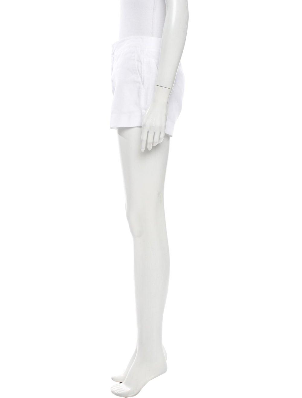 Joie Linen Mini Shorts White - image 2