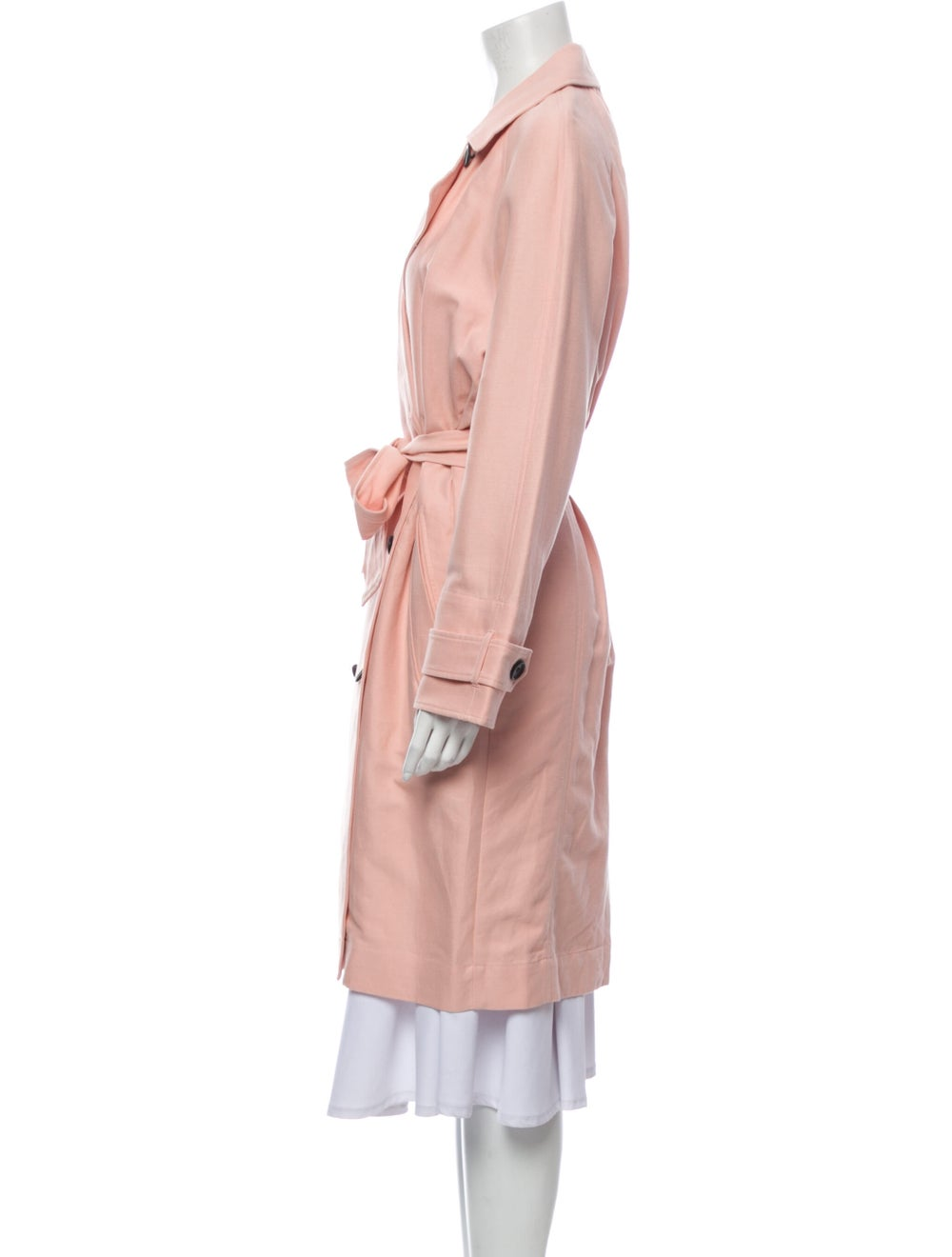 Joie Trench Coat Pink - image 2