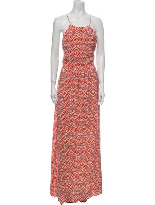 Joie Silk Long Dress Orange