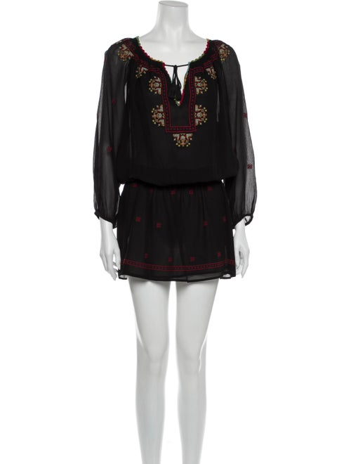 Joie Silk Mini Dress Black