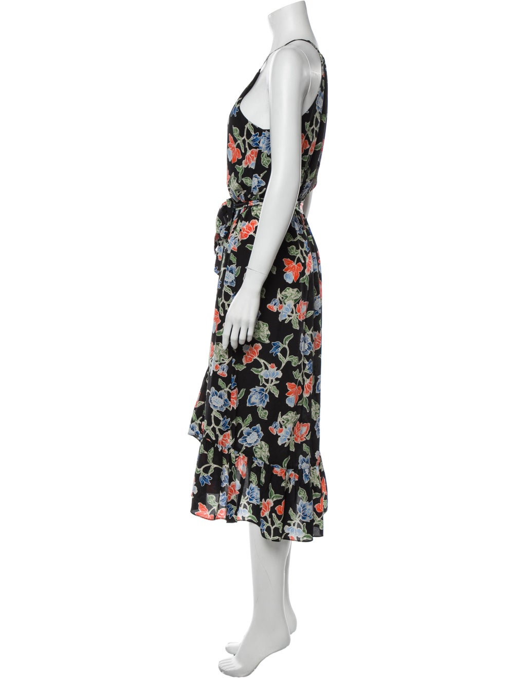 Joie Silk Long Dress Black - image 2