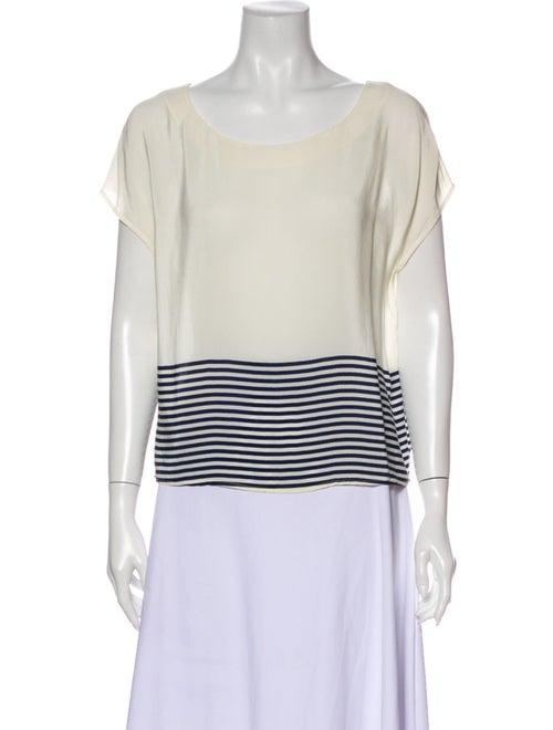 Joie Silk Striped T-Shirt