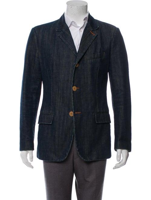JPG Jeans Notch-Lapel Denim Blazer blue