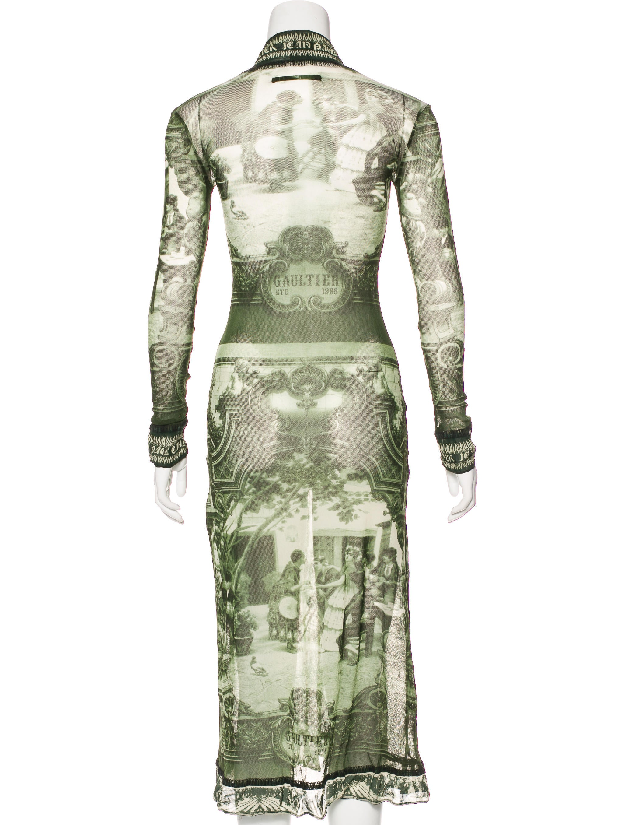 Jean paul gaultier classique printed midi dress clothing for Jean paul gaultier clothing