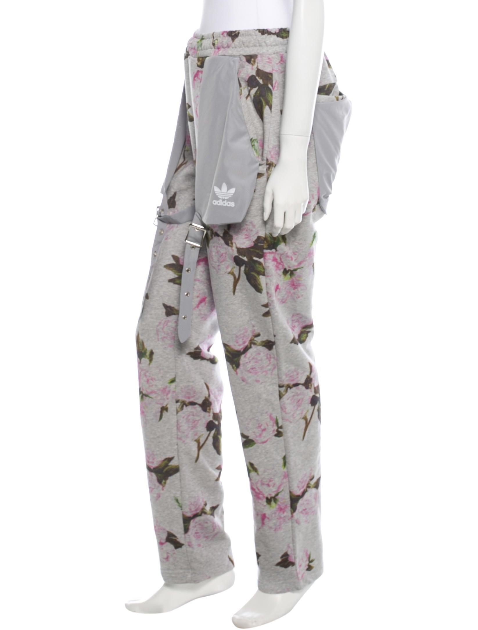 jeremy scott x adidas floral print track pants w   tags - clothing