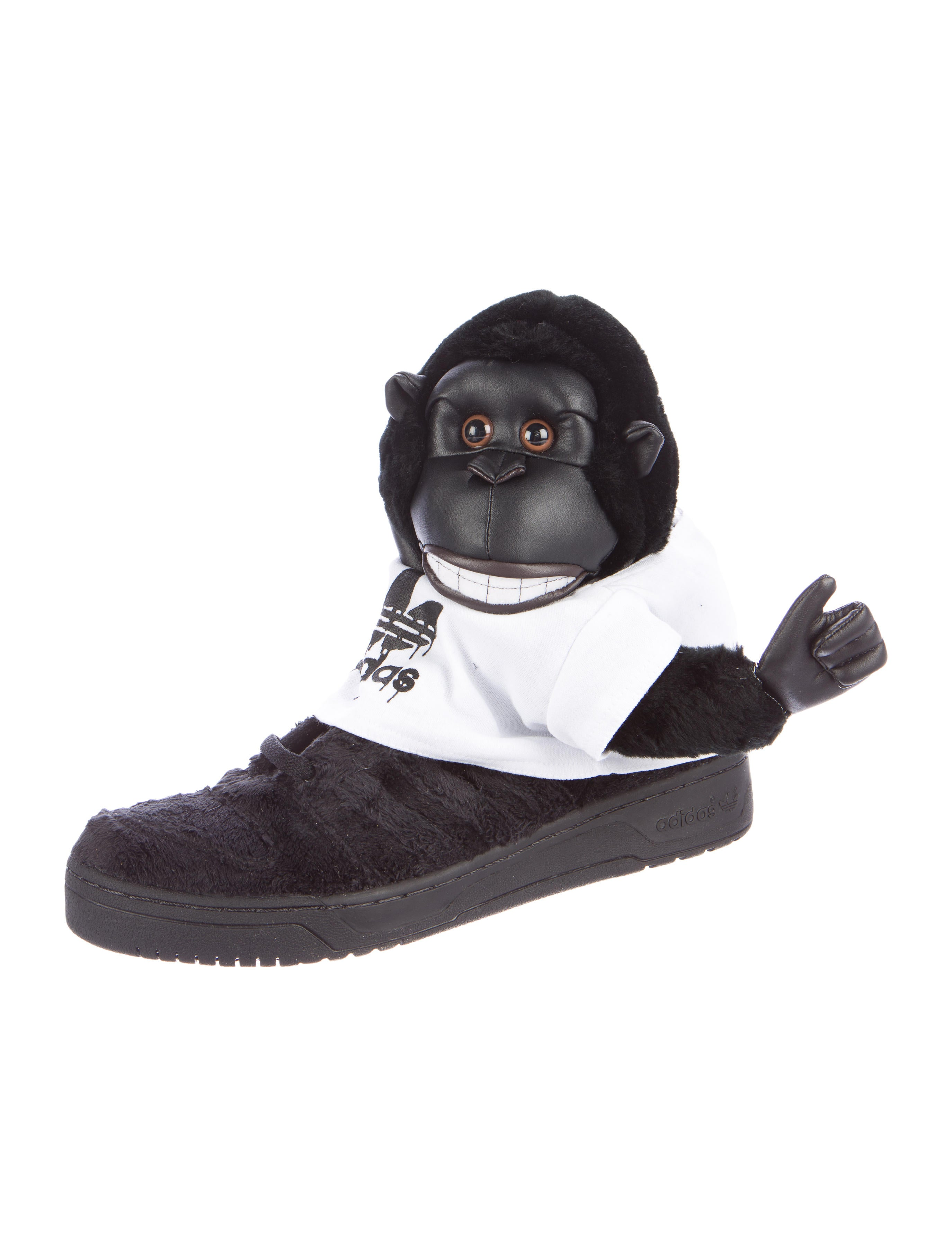 Jeremy Scott x Adidas Gorillas Plush Sneakers w Tags  : WJA201162enlarged from www.therealreal.com size 2749 x 3626 jpeg 367kB