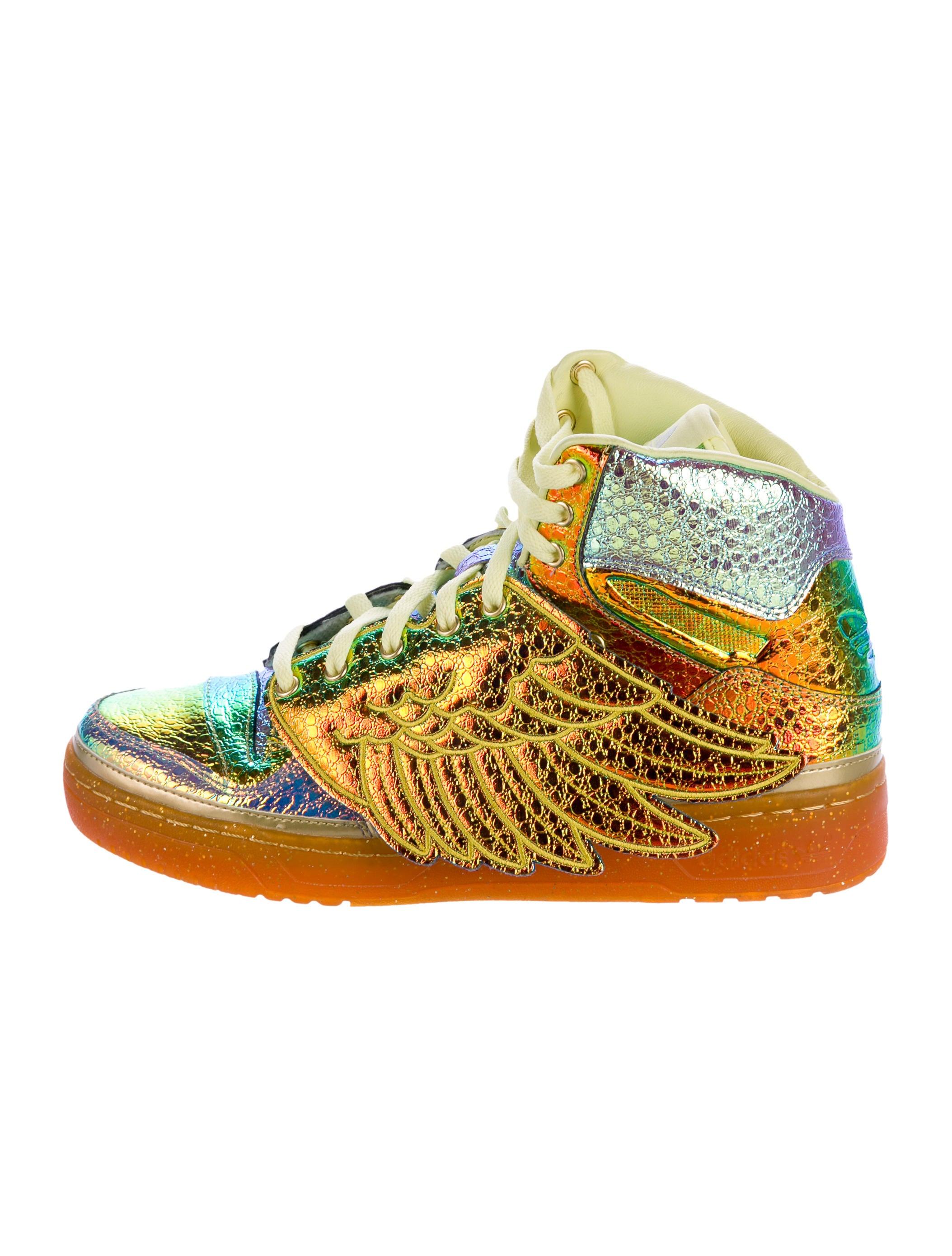 7ef60da5e5f602 Jeremy Scott x Adidas Foil Wing Sneakers w  Tags - Shoes - WJA20266 ...