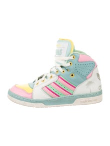 newest cc03b f92fc Jeremy Scott x Adidas. Js License Plate Miami High-Top Sneakers