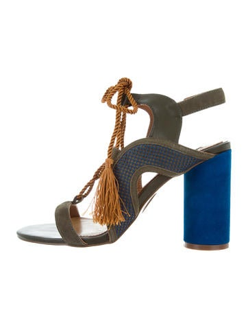 Jaggar Suede Tassel Sandals None