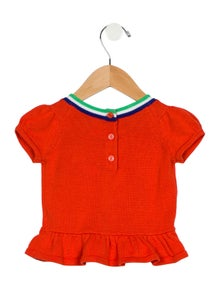 Janie and Jack Girls' Short Sleeve Knit Top