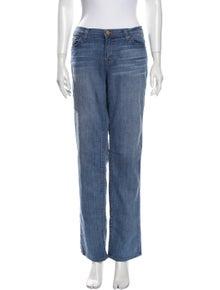 J Brand Mid-Rise Straight Leg Jeans