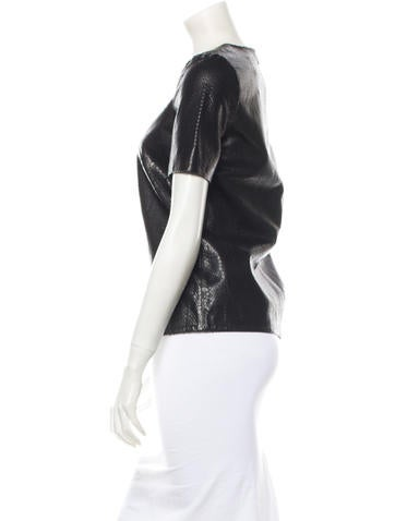 Leather Top w/ Tags