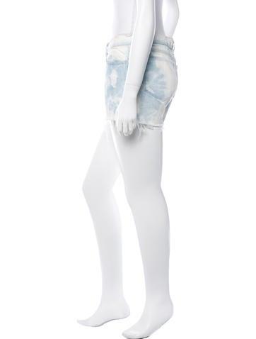 Tie-Dye Denim Shorts