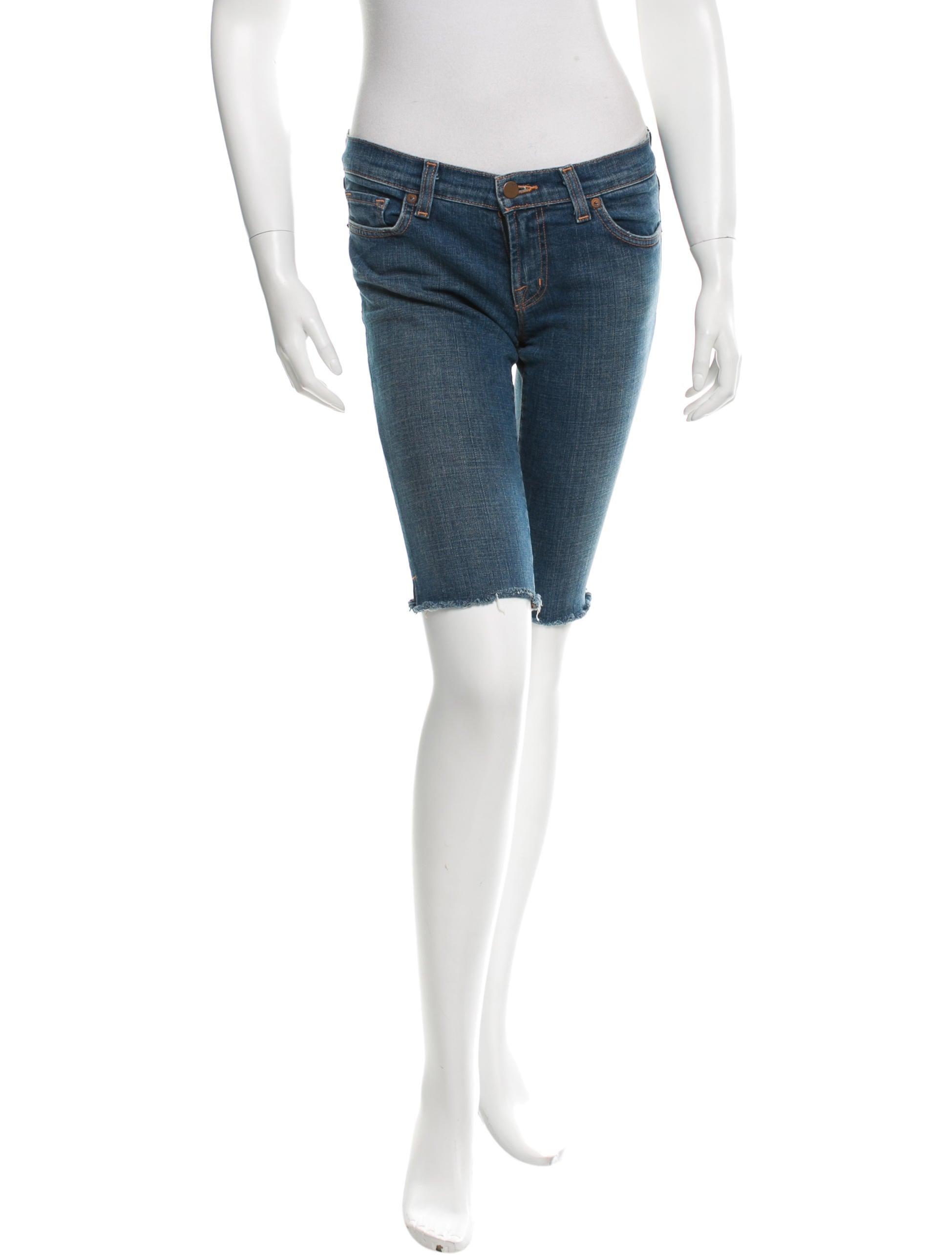 J Brand Knee-Length Denim Shorts - Clothing