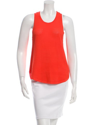 J Brand Open Knit Sleeveless Top