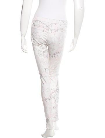 Floral Print Skinny Jeans