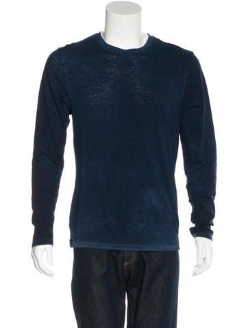 J Brand Woven Long Sleeve T-Shirt None