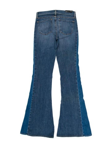Mid-Rise Flared-Leg Jeans