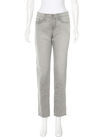 J Brand Mid-Rise Straight-Leg Jeans w/ Tags None