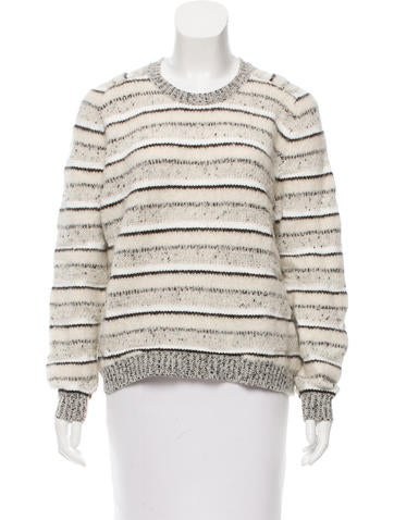 J Brand Striped Crew Neck Sweater None