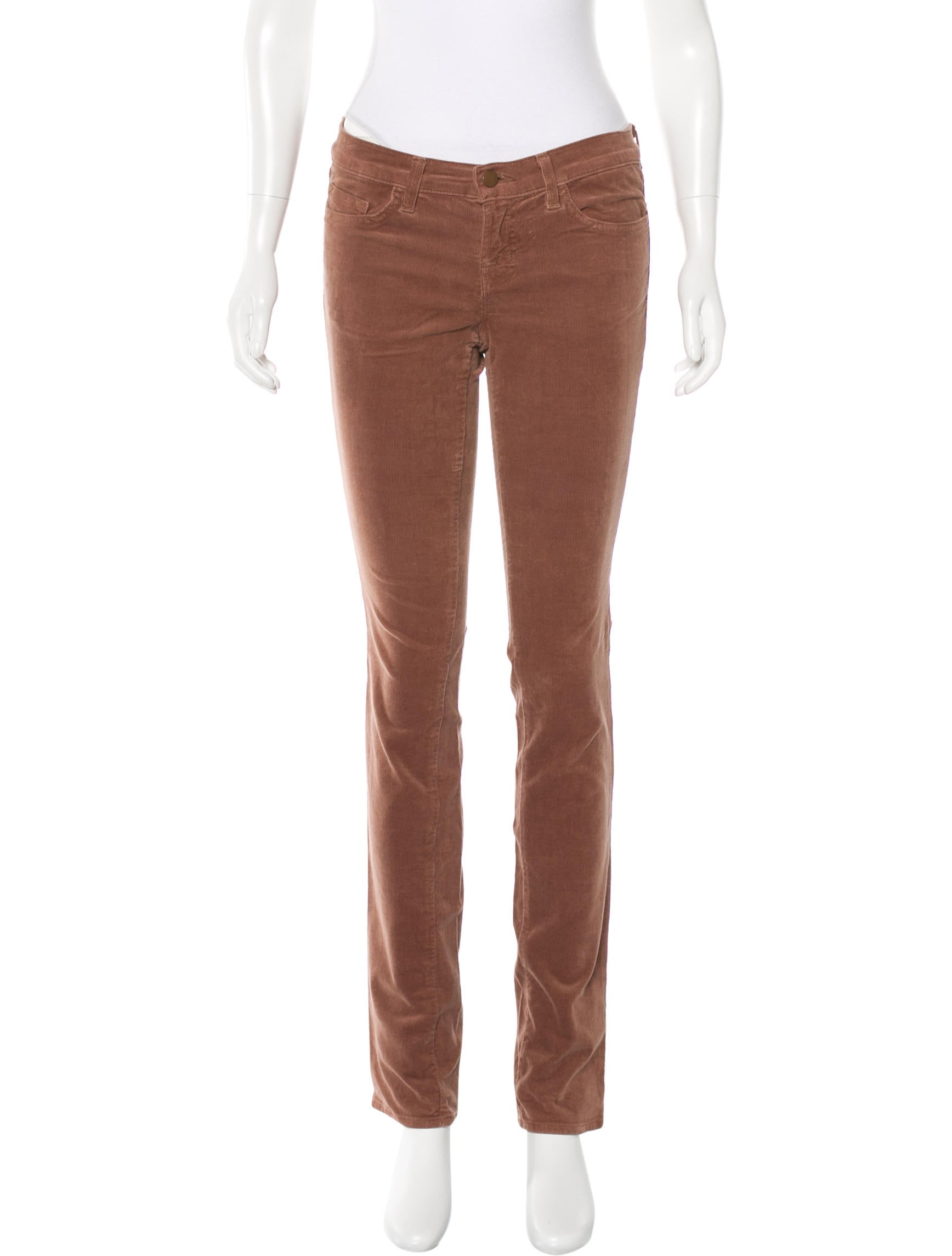 J Brand Low-Rise Corduroy Jeans - Clothing