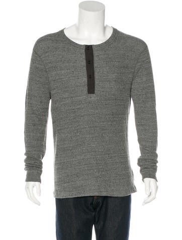 J Brand Waffle Thermal Henley None