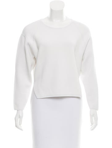J Brand Crew Neck High-Low Top None