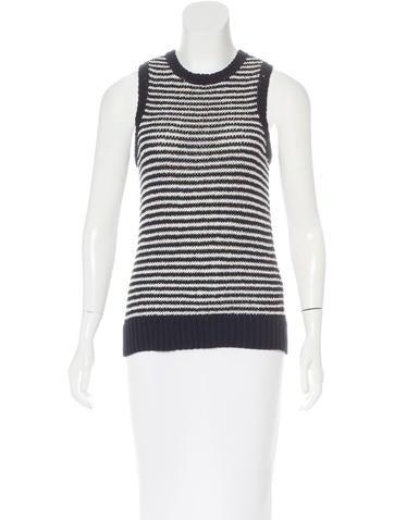 J Brand Striped Knit Top None