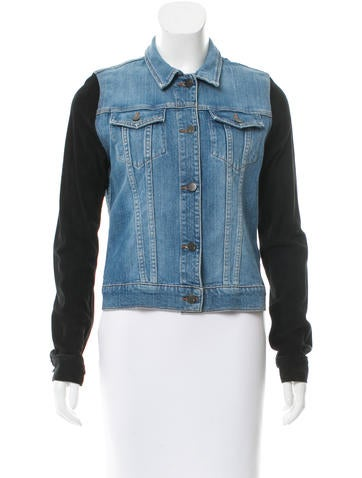 J Brand Contrast Denim Jacket