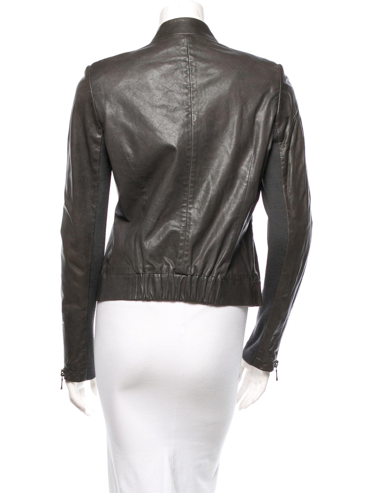 Branded garments leather jacket