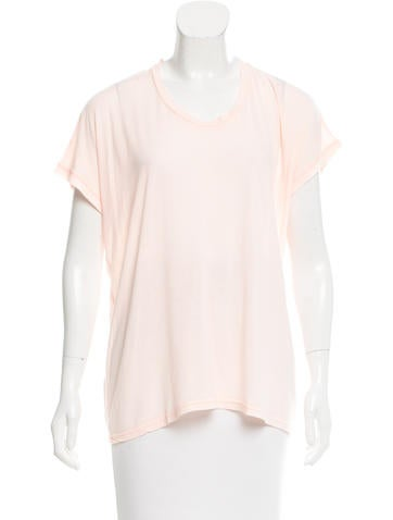 J Brand Semi-Sheer Short Sleeve Top w/ Tags None