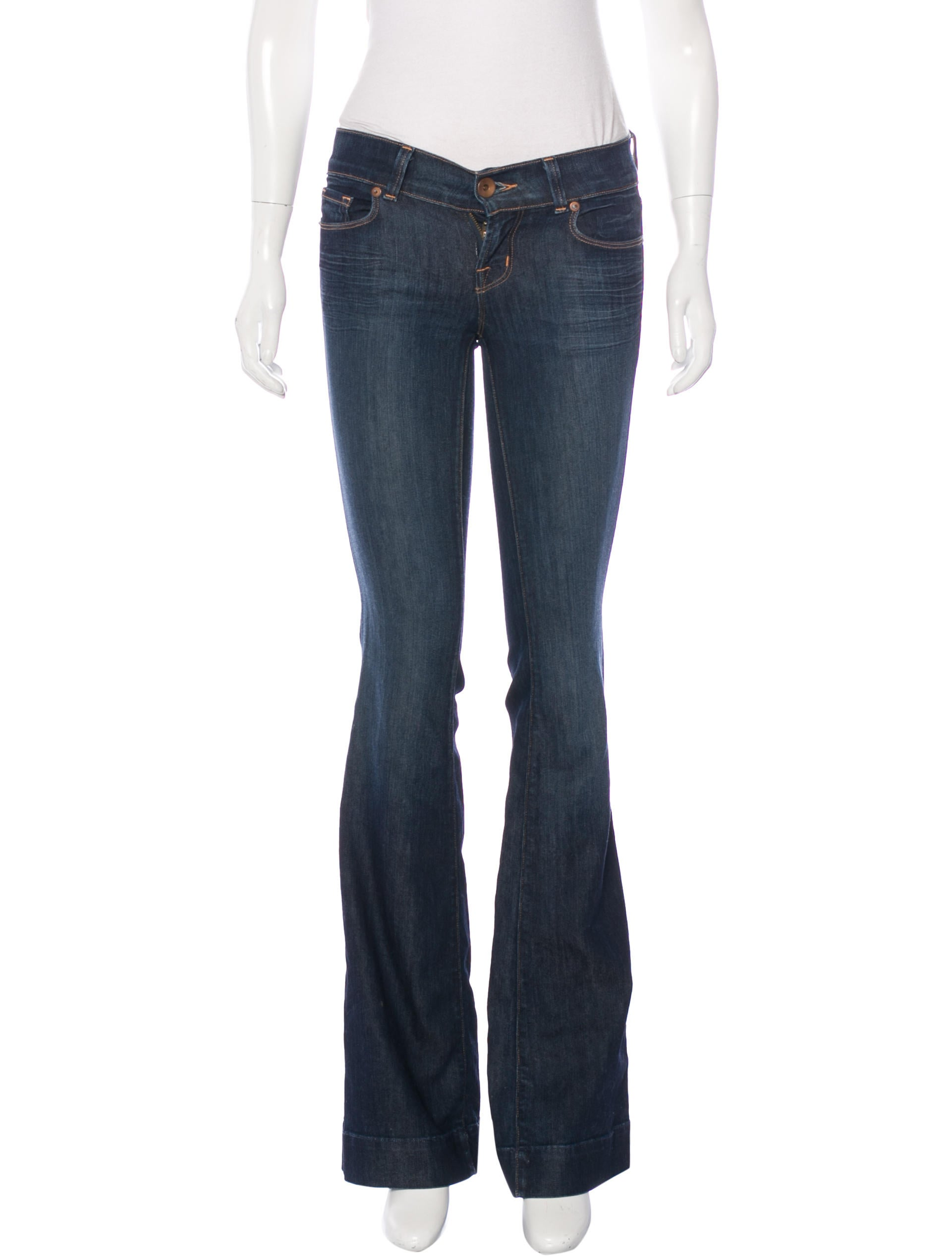J Brand Low-Rise Flare Jeans - Clothing