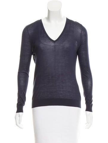 J Brand Silk Long-Sleeve Top None