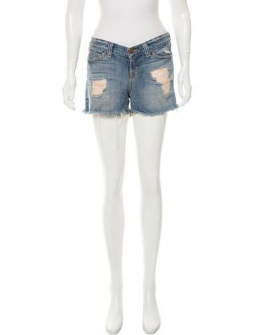 J Brand Medium Wash Distressed Shorts None