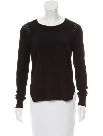 J Brand Scoop Neck Knit Top None