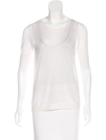 J Brand Silk Short-Sleeve Top None