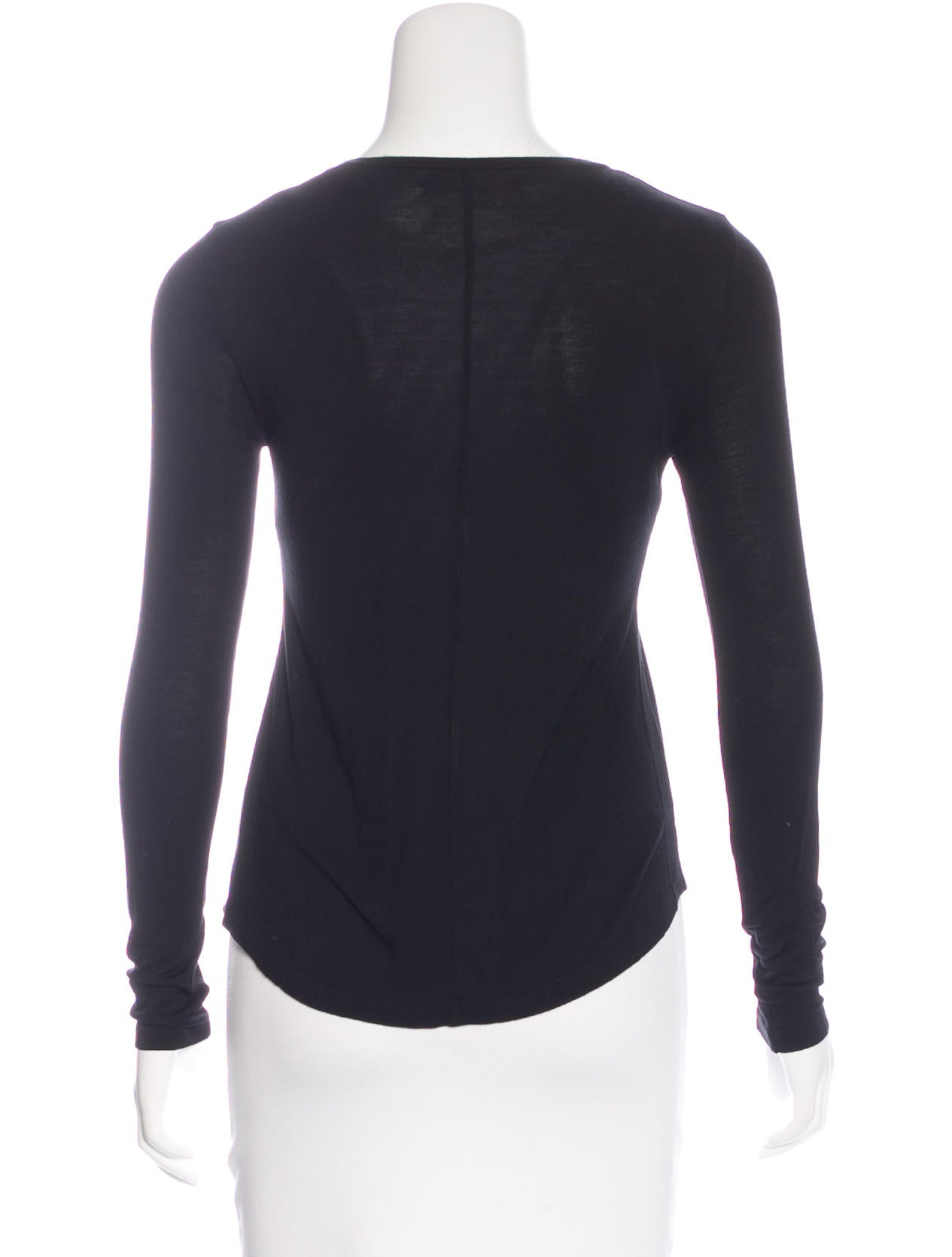 J brand long sleeve scoop neck t shirt clothing for Long sleeve scoop neck shirt