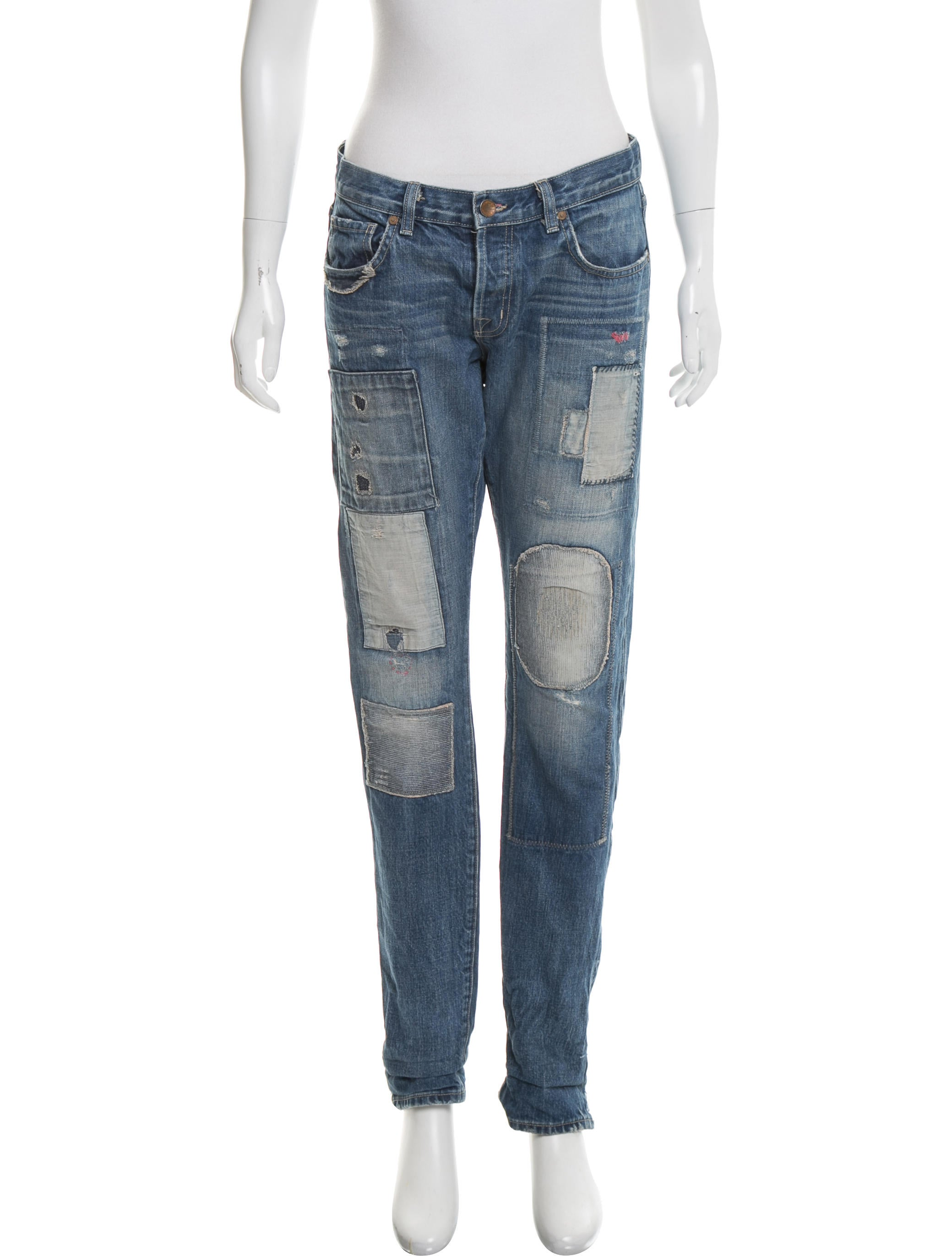 j brand mid rise distressed jeans clothing wjb29703. Black Bedroom Furniture Sets. Home Design Ideas