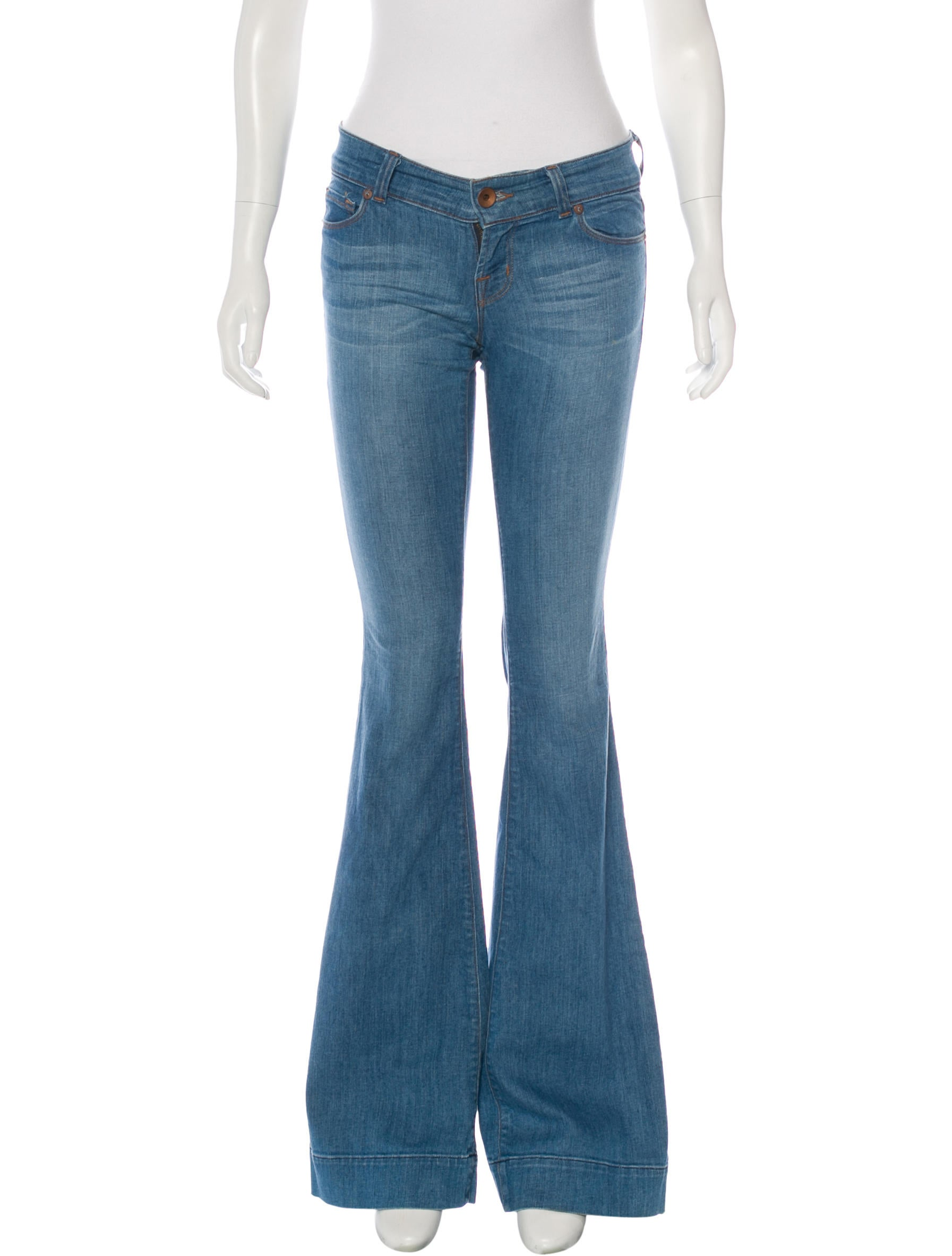 J Brand Low-Rise Wide-Leg Jeans - Clothing