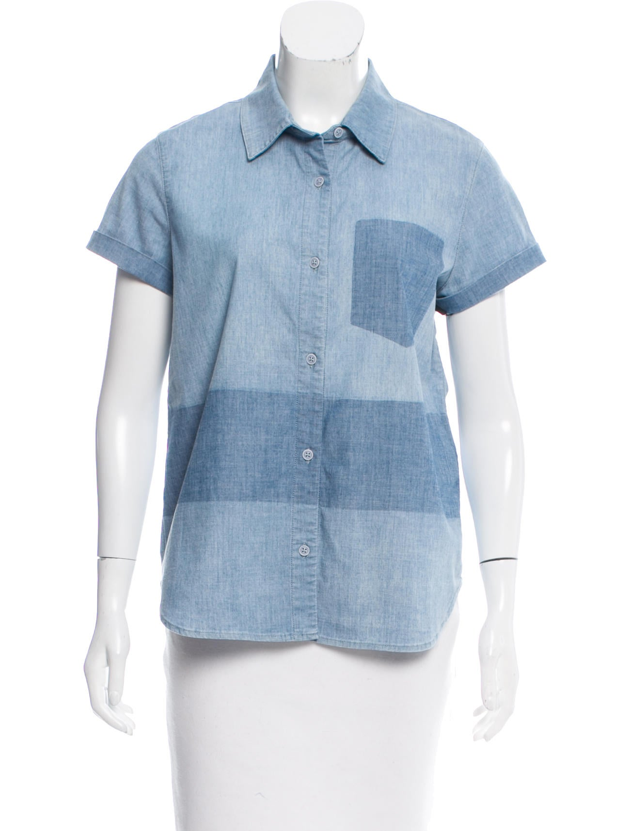 J brand chambray short sleeve top w tags clothing for Chambray top