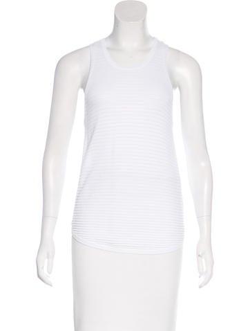 J Brand Open Knit Sleeveless Top None