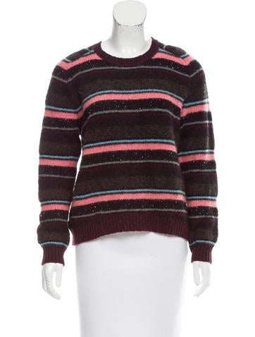 J Brand Striped Long Sleeve Sweater None