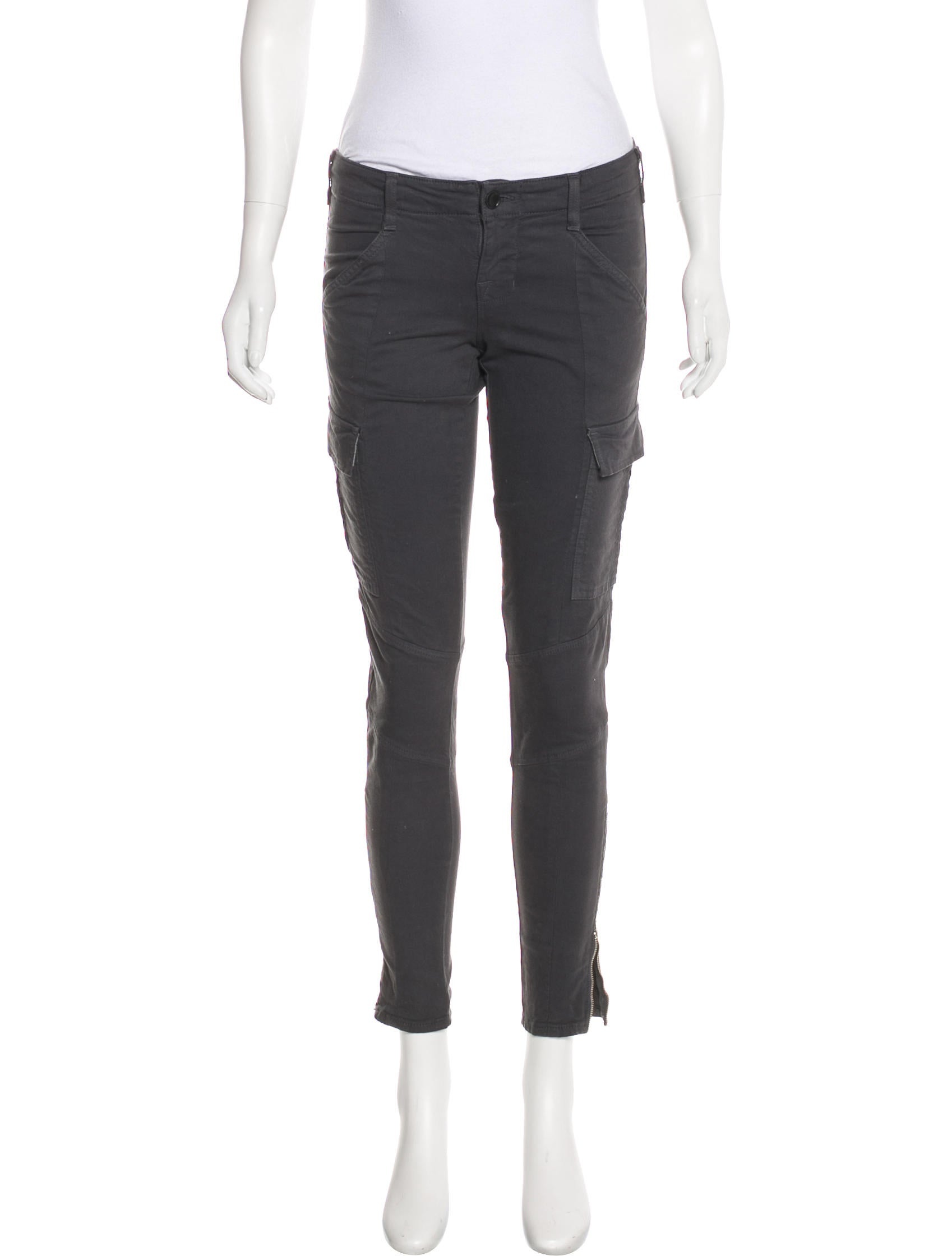 J Brand Low-Rise Skinny Pants - Clothing