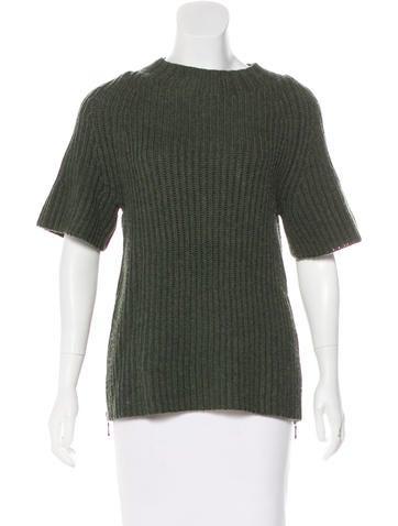 J Brand Short Sleeve Wool Top None