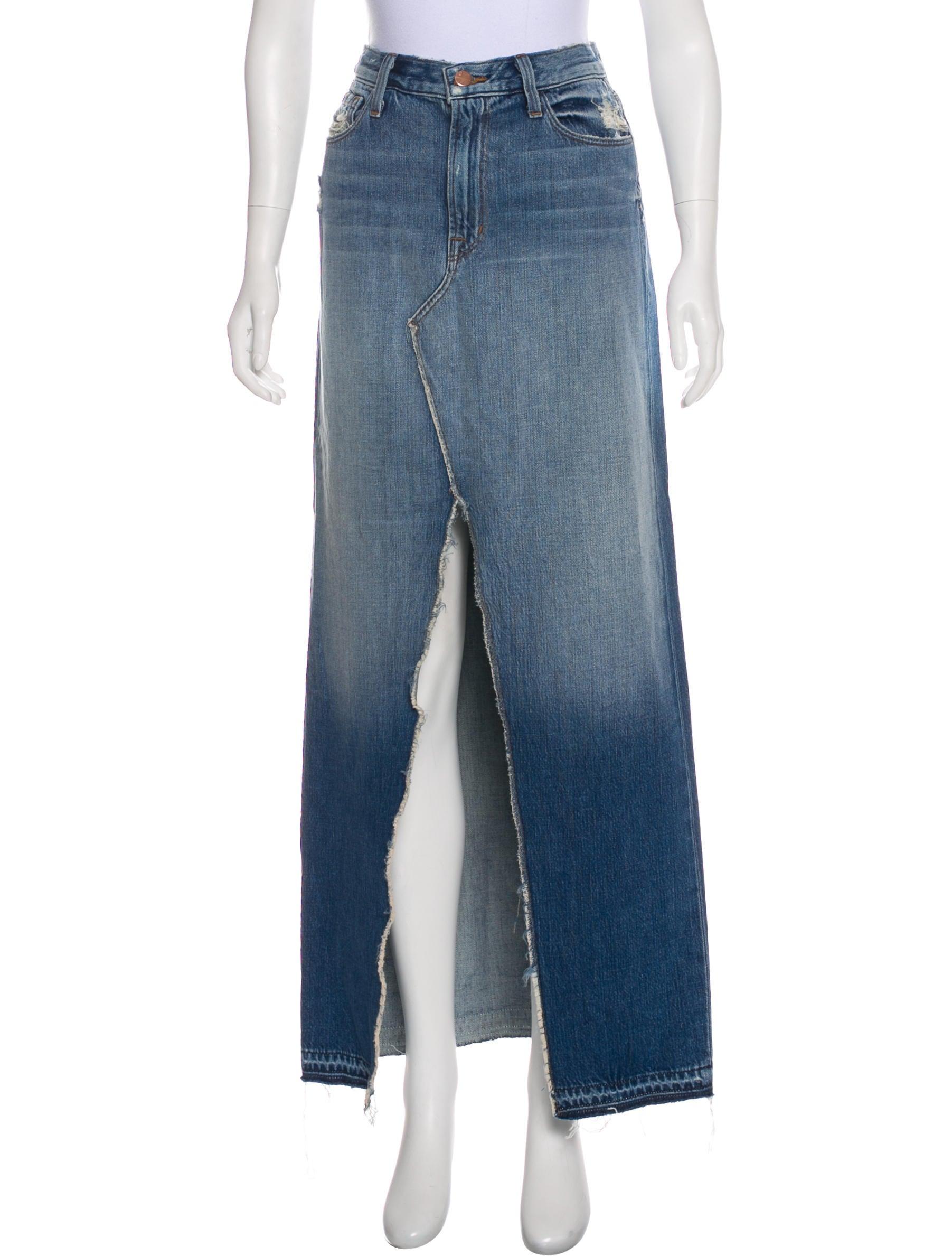 a60b59f854 J Brand Trystan Maxi Denim Skirt w/ Tags - Clothing - WJB44341 | The ...