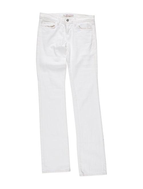 J Brand Low-Rise Straight Leg Jeans
