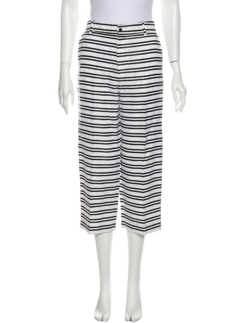 J Brand Striped Wide Leg Pants White