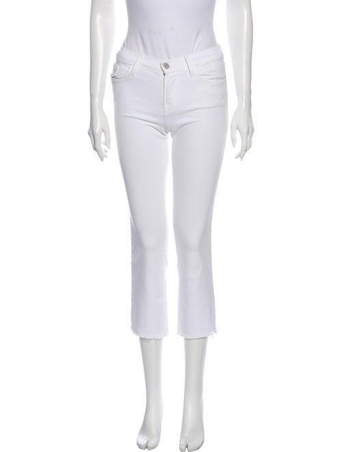 J Brand Low-Rise Straight Leg Jeans White